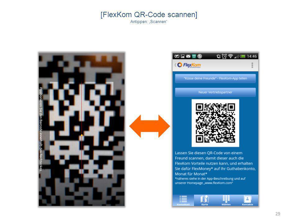 [FlexKom QR-Code scannen]
